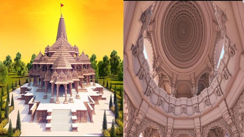 भूमि पूजन से पहले सामने आई राम मंदिर मॉडल की नयी तस्वीरें, कुछ ऐसा दिखेगा अंदर से, देखिये तस्वीरें
