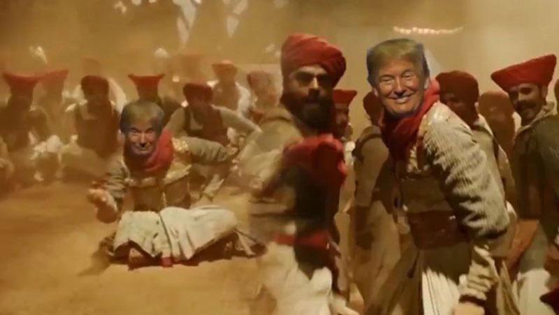 पेशवा बाजीराव बनकर डोनाल्ड ट्रंप ने किया धांसू डांस, वीडियो देखकर नहीं रुकेगी हंसी