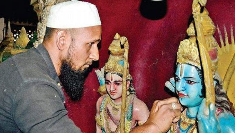 बेंगलुरु के एक मंदिर में हिन्दू - मुस्लिम धर्म एकता की अनूठी मिसाल..