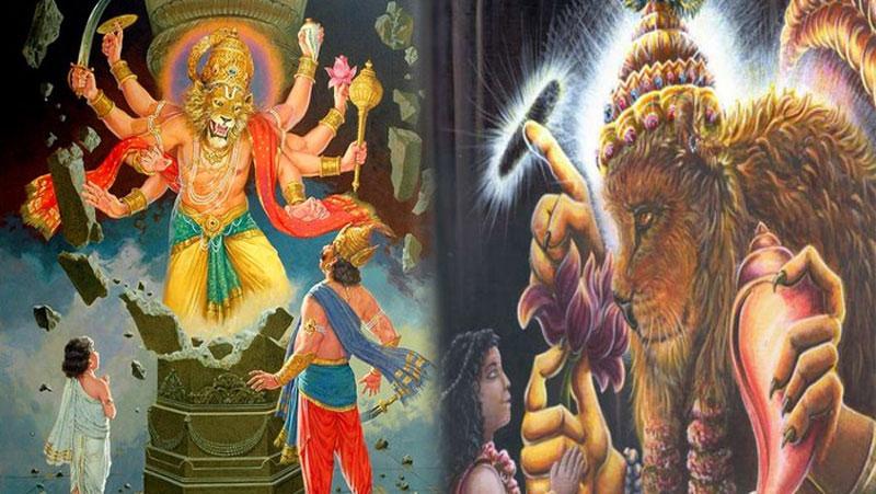 आखिर इस वजह से लेना पड़ा भगवान विष्णु को शेर के मुख वाला नृसिंह अवतार, जानिए शेर वाले भगवान की पूजा विधि की विशेषता..
