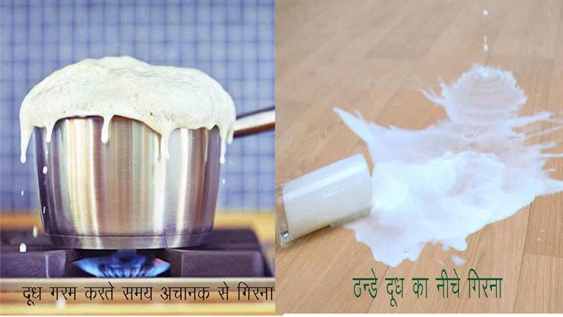 क्या आप जानते है ? दूध का बर्तन से गिरना किन संकेतो की और इशारा करता है |